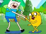 play Adventure Time Skateboarding