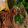 Naughty Tigers In The Woods Puzzle game