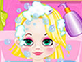 play Baby Rapunzel Hair Cut And Bathing