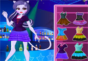 play Monster High Catrine Demew Dress Up