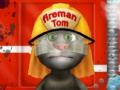 play Talking Tom Firetruck Washing