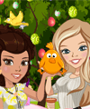 play Zoe And Lily Easter Joy Dress Up