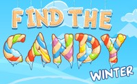 Find The Candy: Winter game