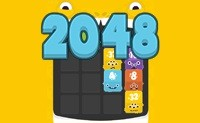 2048 Fuzzy Monsters game