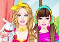 play Barbie Sleepover Princess Dress Up