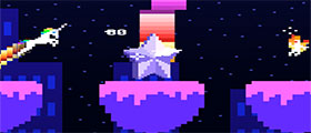 play Retro Unicorn Attack