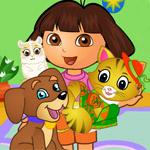 play Dora Pets Care