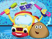 play Pou Car Wash