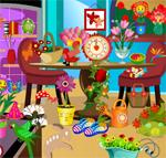 play Flowers Room Hidden Object