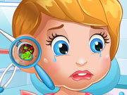Baby Lizzie Ear Doctor Kissing game