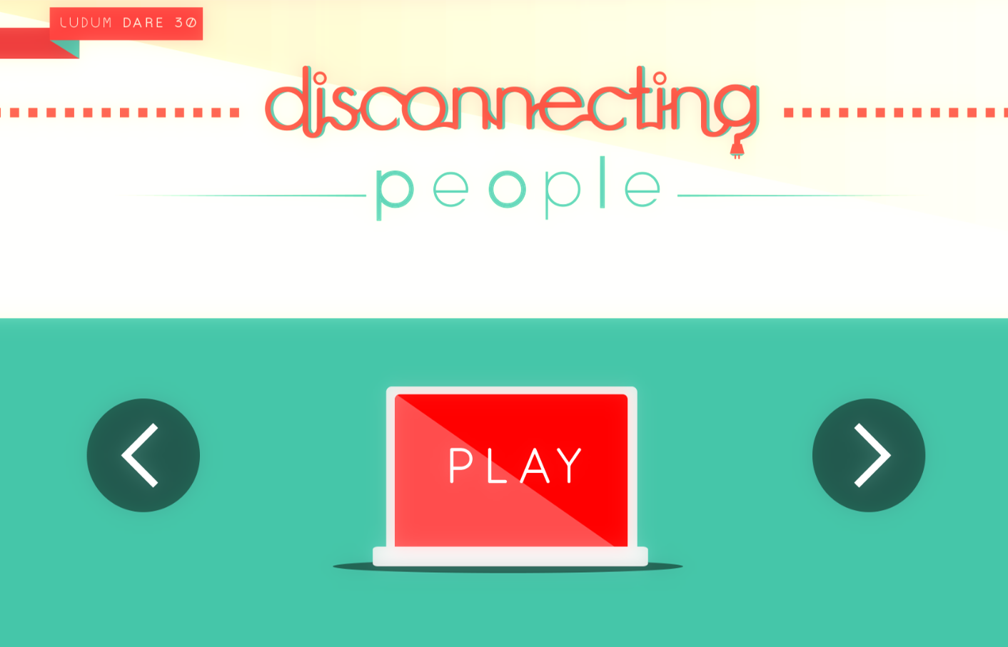 Disconnecting People game