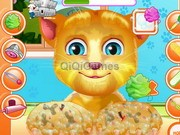 Talking Ginger Paw Caring game