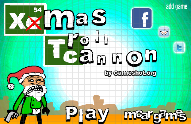 play Xmas Troll Cannon