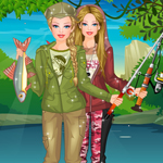 play Barbie Fishing Princess Dress Up