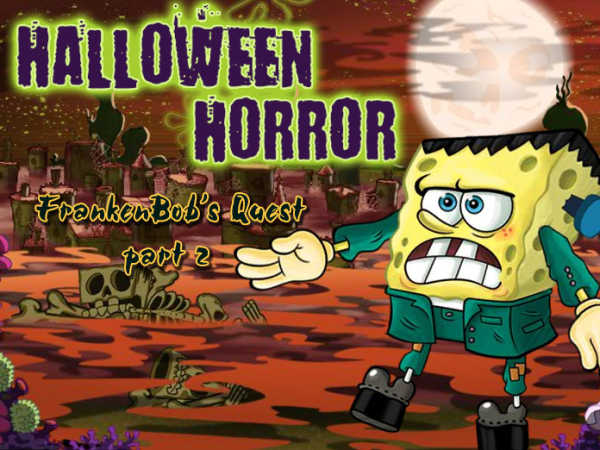 play Spongebob Squarepants: Halloween Horror, Frankenbob'S Quest Pt 2