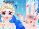 Doctor Frozen Elsa Hand game