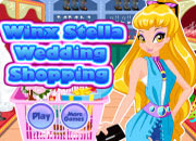 Winx Stella Wedding Shopping game