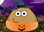Pou Halloween Costume game