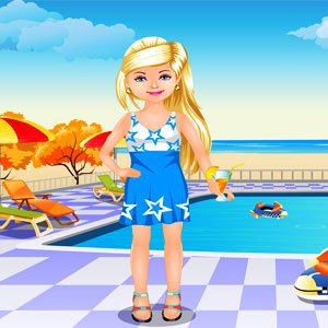 Swimming pool dressup dress up for Two player swimming pool games