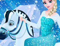 Elsa Goes Horseback Riding game