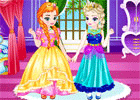 Baby Elsa With Anna Dress Up game