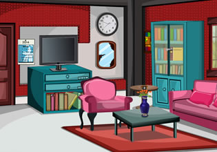 play Yotreat Glitter Red Living Room Escape