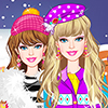 Play Barbie Winter Shopping game
