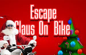 Escape Claus On Bike game