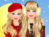 play Barbie Winter Fashionista Dressup