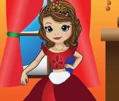 play Sofia The First Christmas Dress Up