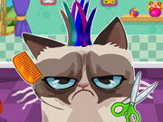 Angry Cat Hair Salon game