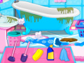 play Pregnant Elsa Bathroom Cleaning