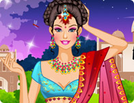 play Barbie Sari Dress Up