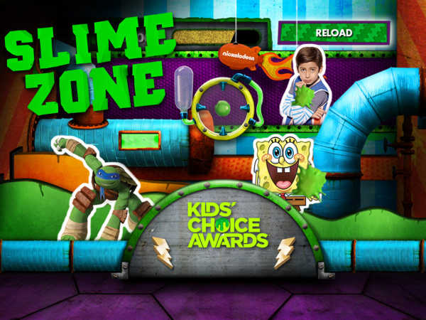 Kids Choice Awards 2015: Slime Zone game