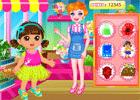 play Dora Flower Store Slacking
