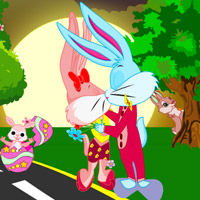 play Easter Bunny Kissing