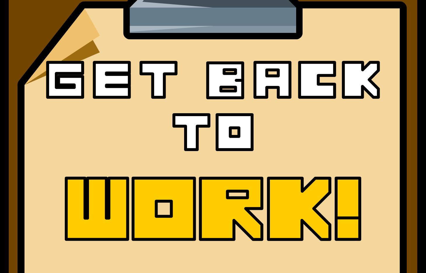 Get Back To Work! game