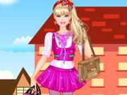play Barbie College Princess Dress Up
