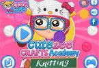 play Cutezee Crafts Academy Knitting