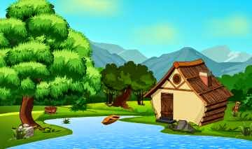 Escape From Forest Boat House game