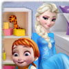 Elsa Playing With Baby game