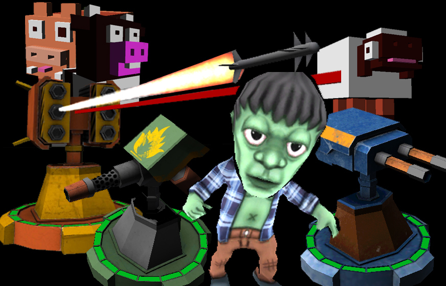 zombie farmers with rocket launcher ball