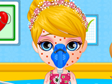 play Baby Barbie Allergy Attack