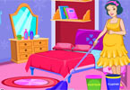 Pregnant Snow White Room Cleaning