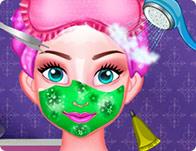 play Princess Elsa Facial Spa