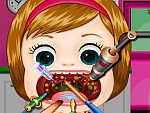 Baby Melisa Throat Doctor game