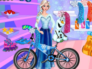Elsa And Olaf Bike Decor game