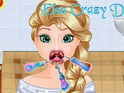 Elsa Crazy Dentist game