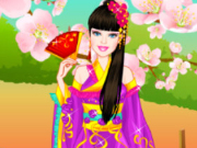 play Barbie Japanese Princess Dress Up