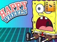 play Sponge Bob Levels: Happy Wheels